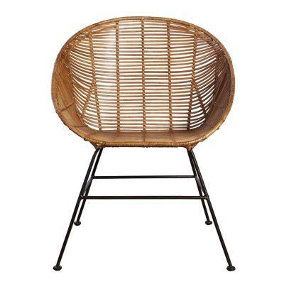 - Retro loungestol från House Doctor. Tidslös loungestol i rotting och järn. En snygg och bekväm stol som har stort användnigs område. Passar både i vardagsrummet vid soffan eller varför inte som avlastningstol i hallen? Max vikt är 100 kg men klara 150 kg men inte konstant.