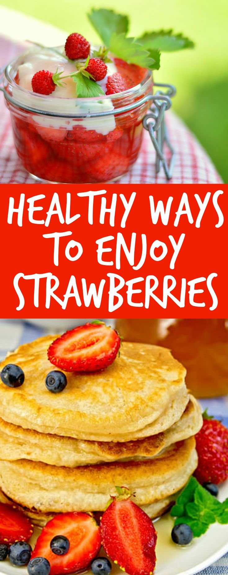 There are a range of valuable nutrients in strawberries, which makes them a good choice for a healthy snack. But having them with lots of fat and/or sugar makes them less healthy - try these ideas to enjoy the benefits of strawberries healthily