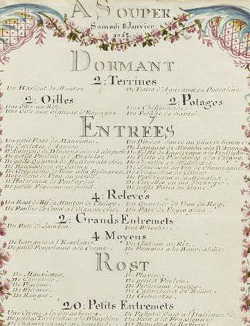 Journeys of the king at the palace of Choisy» in 1752 : supper of January, 8th, in 1752 by Brain de Sainte Marie, 1752 © RMN / Gérard Blot