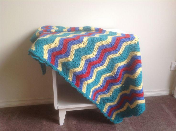 Pre-loved handmade crochet blanket. $20