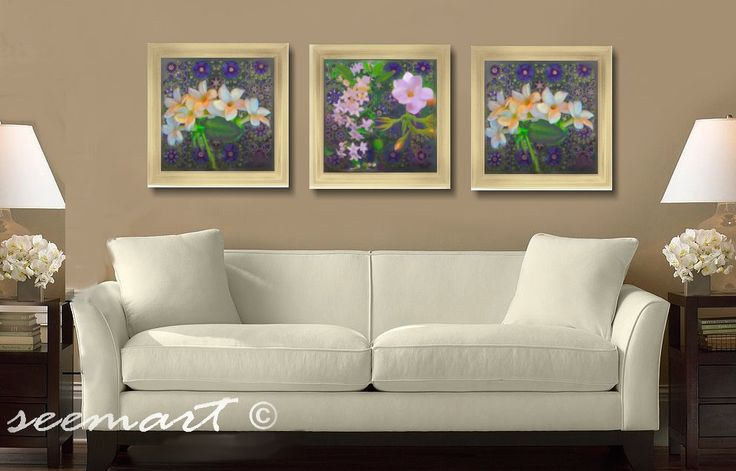 Checkout this amazing product Floral/Jasmine Green / White / Art Prints Collection -Set of (3) - 12x12Prints - (UNFRAMED)Home Decor,$75