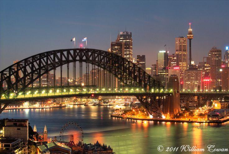 Sydney Harbour Bridge From Harbourview North Sydney