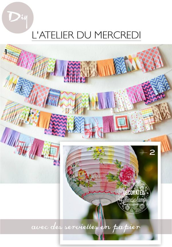 DIY avec des serviettes en papier // Paper Napkins Crafts Visit our blog at www.zdhomes.net for interesting tips and ideas.