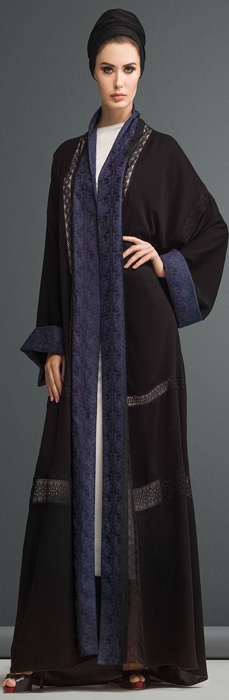 Mauzan abaya Dubai..Lace with Color blocking