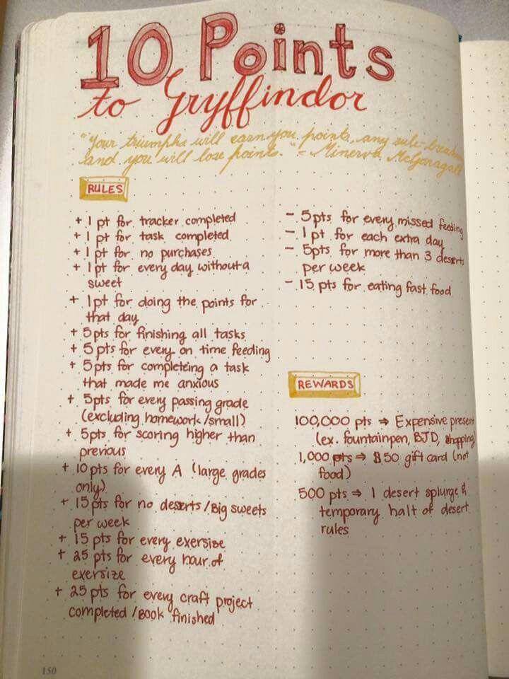 Bullet Journal - Motivation Harry Potter