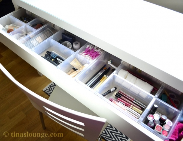Dressing Table - Malm / Ikea...site is in German, but the pictures say it all