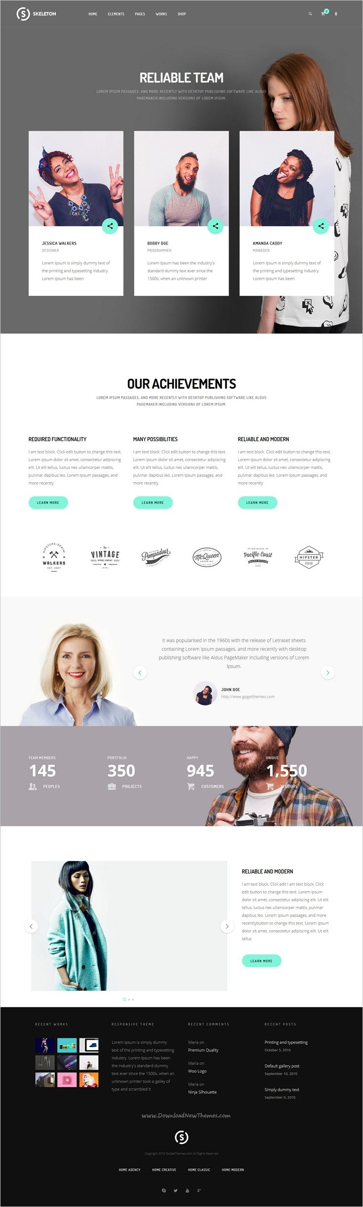 Skeleton is an awesome responsive multipurpose #WordPress theme for stunning #agency websites with 25+ unique homepage layouts and amazing features download now➩ https://themeforest.net/item/skeleton-wordpress-theme/17554719?ref=Datasata