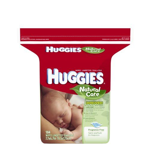 Huggies Natural Care Fragrance Free Baby Wipes, 552 Total Wipes 184 Count (Pack of 3) - Huggies natural care baby wipes are the gentle clean for a baby's naturally perfect skin. Also available in scented. View tubs in scented and fragrance free. Prod