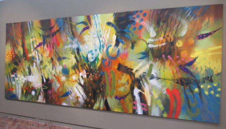 Vernáculo Óleo sobre lienzo 200 x 510 cms 2001 Colección privada