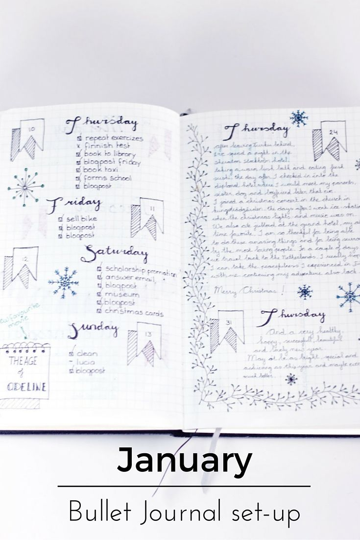 How I set up my Bullet Journal for January, great inspiration.