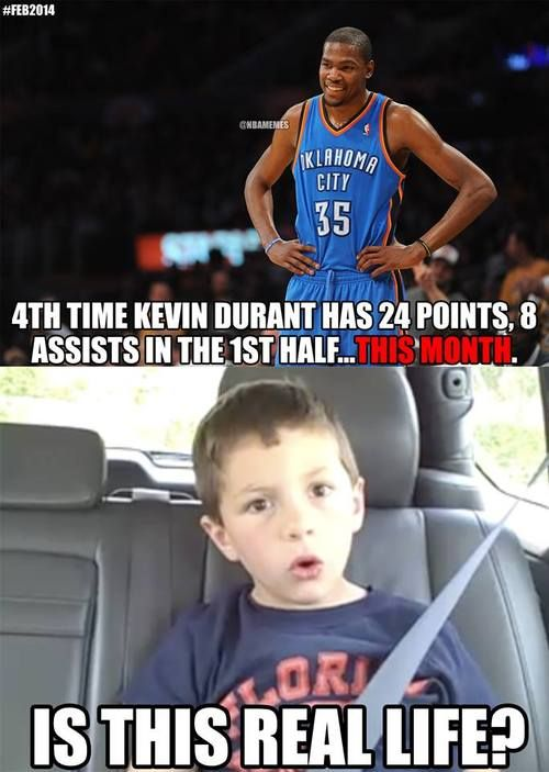 Kevin Durant's MVP Month! - http://nbafunnymeme.com/kevin-durants-mvp-month/