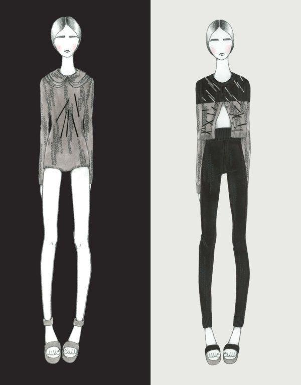Fashion Portfolio - knitwear illustrations; fashion design; fashion sketchbook // Soyeon Hwang