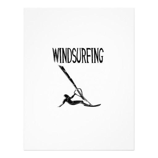 windsurfing v3 black text sport windsurf windsurfe 21.5 cm x 28 cm flyer