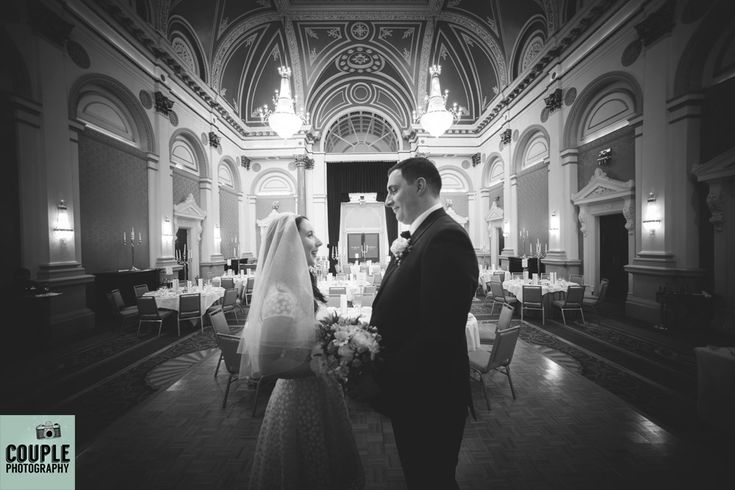 The newleyweds pose in the banqueting hall in the Westin in Dublin. http://www.couple.ie