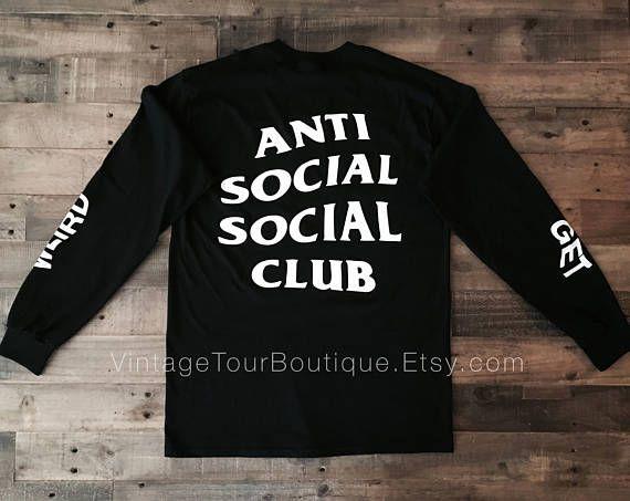 Anti Social Social Club Get Weird Long Sleeve #clothing #shirt @EtsyMktgTool http://etsy.me/2iBxabL