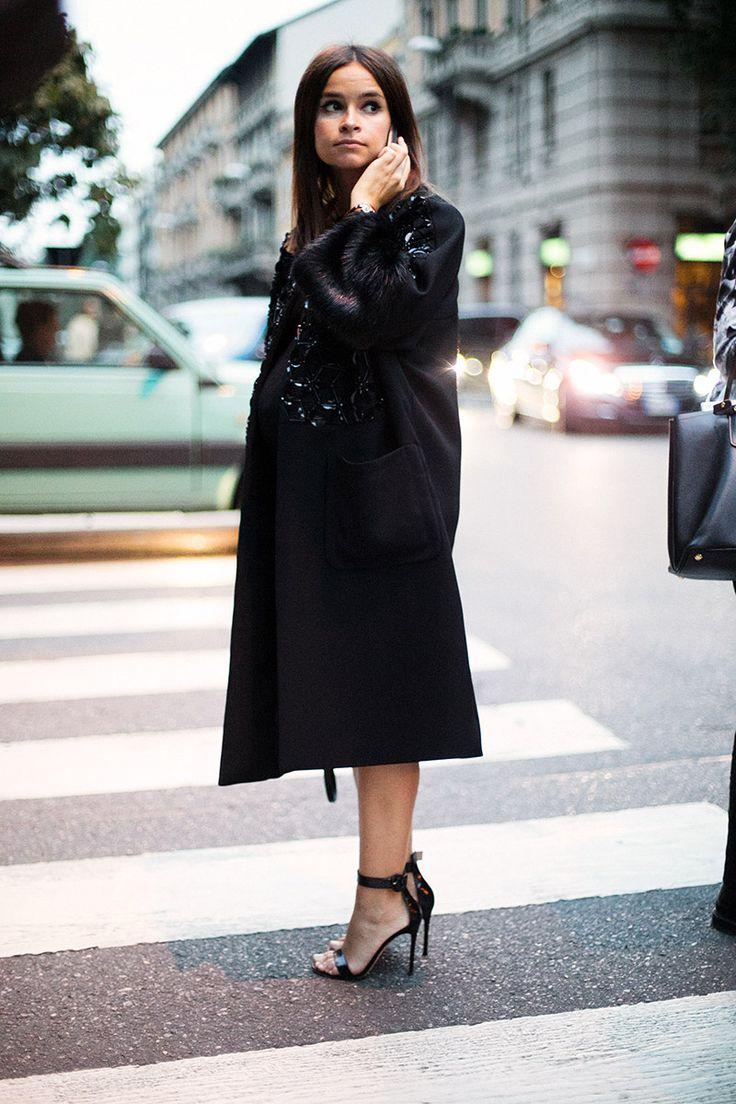Mira Duma at Milan Fashion Week. Spring Summer 2015. Primavera-verano 2015. Vogue España. Foto: Josefina Andres.