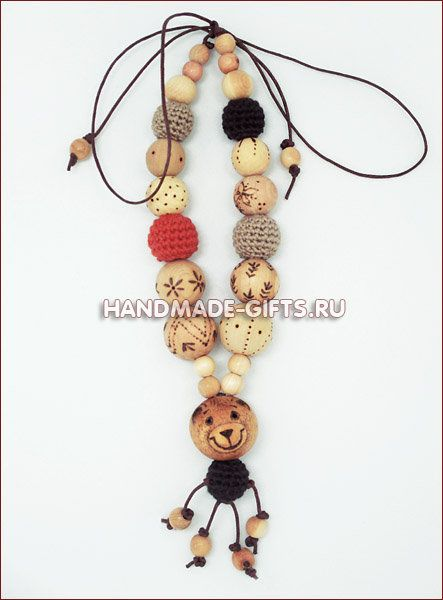 """Necklace """"Clumsy bear"""""""