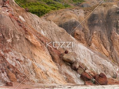 image of a sandstone cliff. - View of a sandstone cliff.