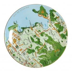 Seletti - Plate Maps - Green - Rio De Janeiro   Seletti New Zealand, Australia, Hong KongPlates Features, Rio De Janeiro, Porcelain Plates, Maps Plates, Plates Wall, Green Porcelain, Plates Maps, Porcelain Maps, Decor Plates