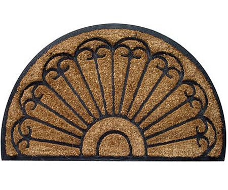 Semi-Circle Rubber & Coir Fan Doormat - Regular
