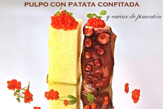 Pulpo con patata confitada y caviar de pimentónBavette | Bavette
