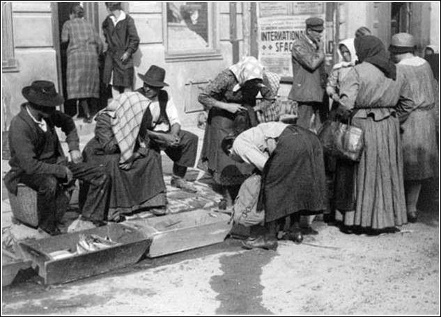 Soproni piac a Nagyvárkerületen (1914-18 táján) - tacsifoto - indafoto.hu