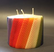 Happy Flame Rainbow Candle