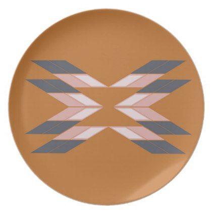 Design mandala ECO BROWN Dinner Plate - spa gifts diy cyo customize