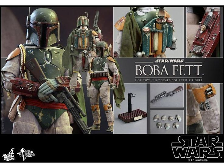 "Star Wars Episode VI: Return of The Jedi - 1/6 Boba Fett - Star Wars Hot Toys 12"" Hot Toys"