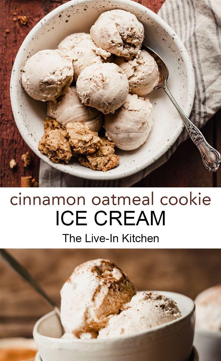 Cinnamon Oatmeal Cookie Ice Cream
