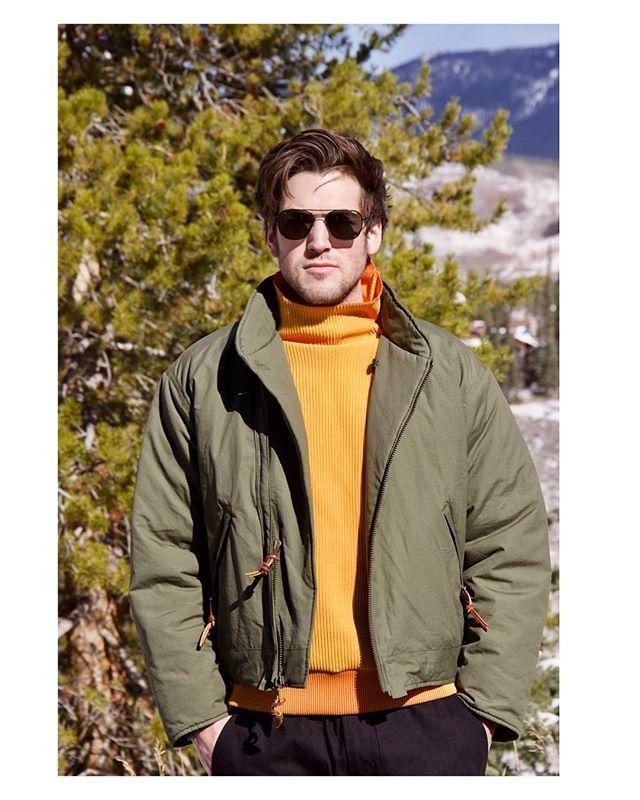Monitaly tanker jacket and Minotaur knit   No Man Walks