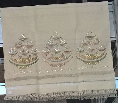 Vintage Crimean Tatar embroidered towel