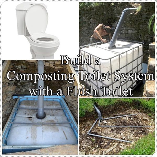 This look into how to build a composting toilet system with a flush toilet option is a great way to send blackwater (contaminated with urine and fecal matt