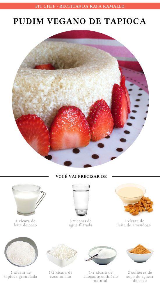 Pudim vegano de tapioca - trocar o adoçante por açúcar demerara
