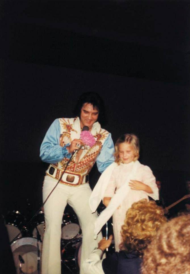 Elvis Presley and Lisa Marie Presley