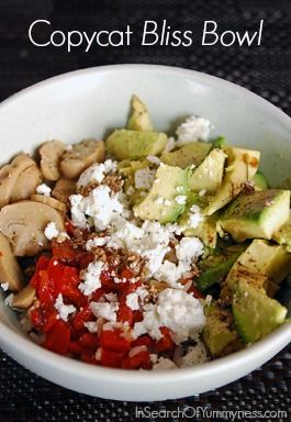 An Interpretation of the Freshii Bliss Bowl | InSearchOfYummyness.com | #Vegetarian #Mushrooms #Avocados