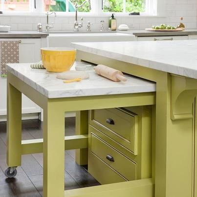 A Trolley Island Top Kitchen On Wheels Design Green With