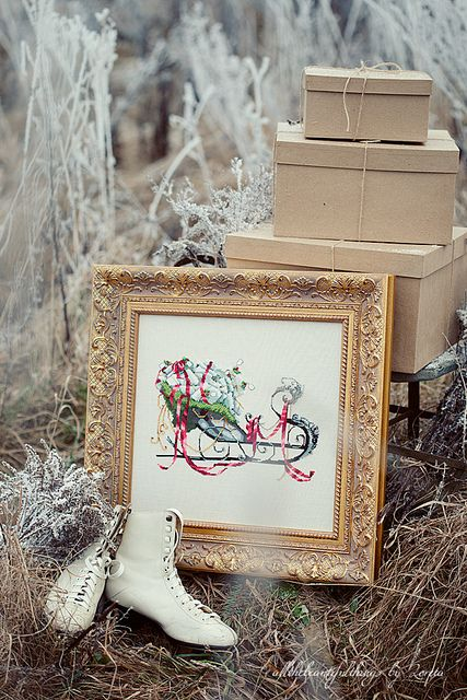 Santas sleigh.../  I've got to find a pair of ice skates!!!!  Where can I get a used pair just for decoration???  sallyeidson@yahoo.com