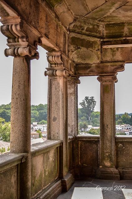 Spain, Galicia, A Coruña, Santiago de Compostela, Cathedral Balcony