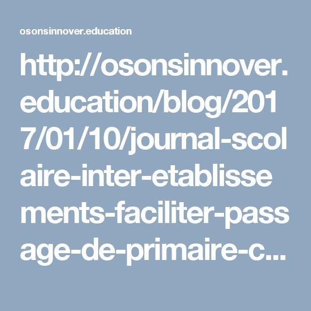 Les élèves de la classe « 6ème médias » du Collège La Sine Vence (académie de Nice) créent un journal scolaire en partenariat avec des CM2 de l'école Saint-Michel de la même ville. Un projet pédagogique destiné d'une part à améliorer les compétences rédactionnelles des élèves mais également à faciliter le passage de la primaire au collège.