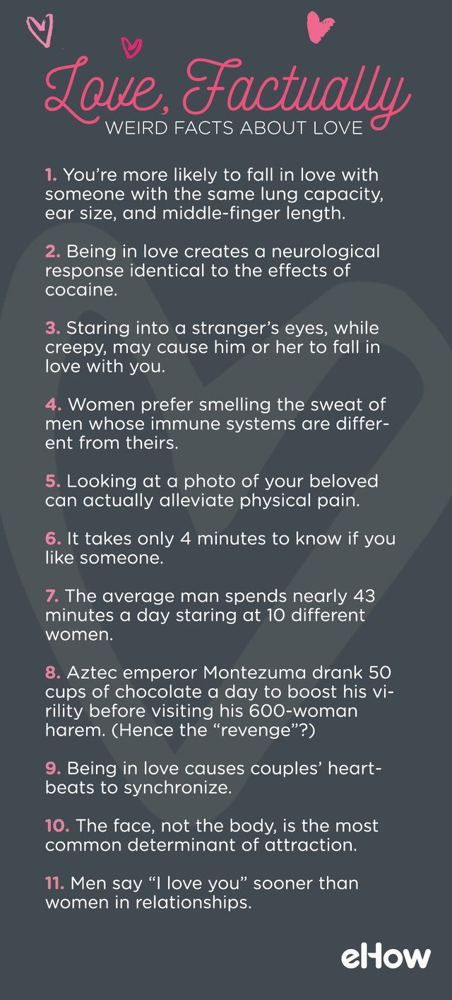 It's cruel, it's blind, it's patient and kind. It's a losing game, it's an open door, it's a battlefield, it's its own reward. But there are some truths about love that have escaped the attention of songwriters and literary masters. So this Valentine's Day, we present some lesser-known facts to help you celebrate.
