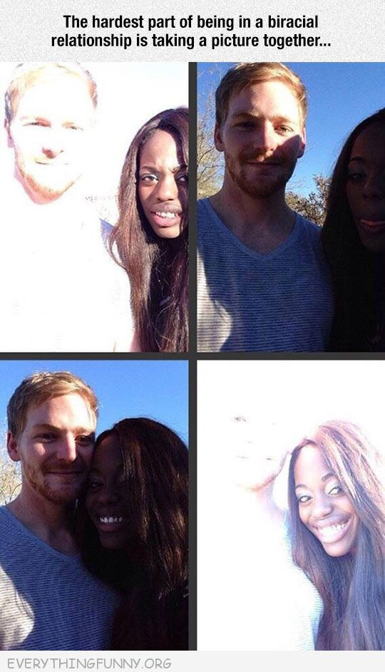 funny problem with biracial couples taking pictures