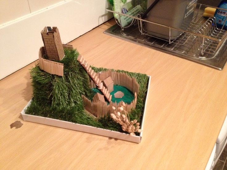 Model of Motte and Bailey castle