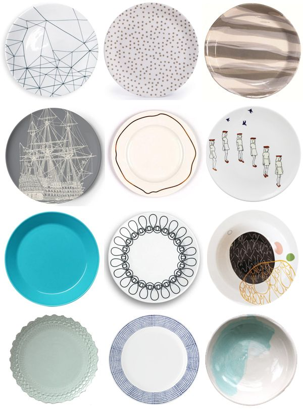 Not sure I would want to put food on these they're so pretty! 12 of Our Favorite Modern Dinner Plates   2Modern Blog