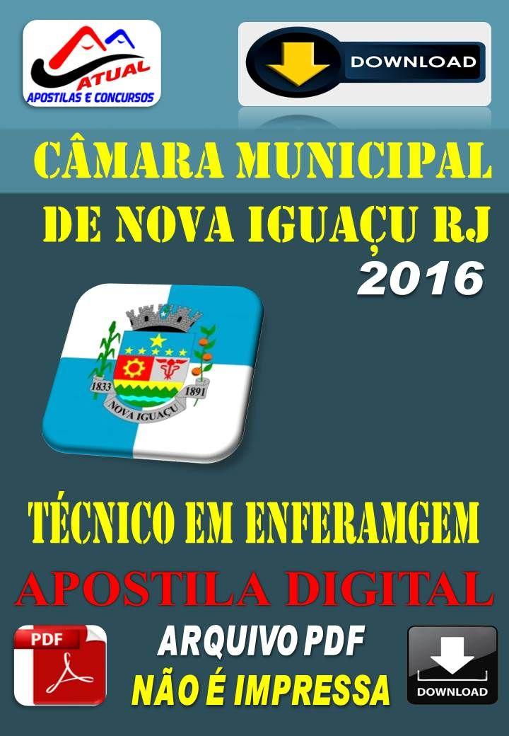 Apostila Digital Concurso Camara de Nova Iguacu RJ Tecnico de Enfermagem 2016