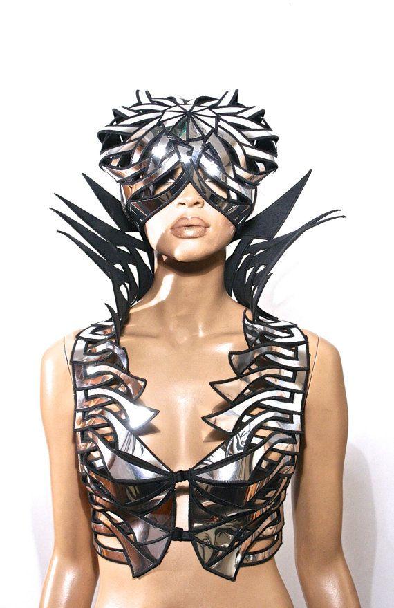Medusa casque guerrier moderne casque scifi guerrier casque armure sci fi futuriste cyber coiffure superhero steampunk