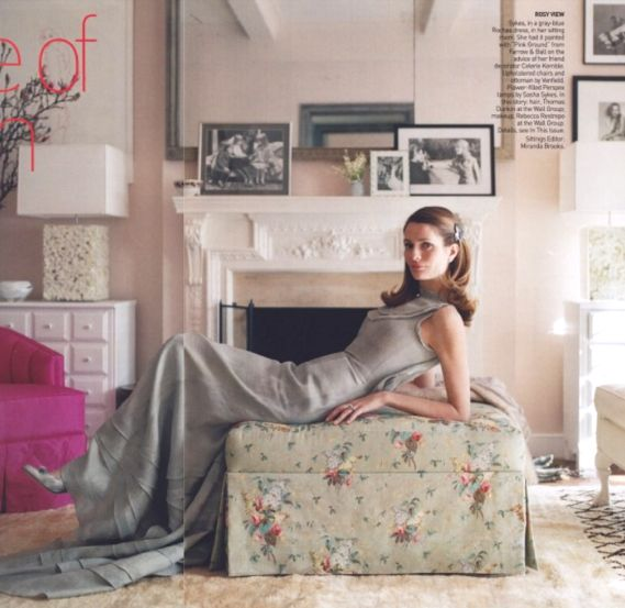 "plum sykes' apartment starring farrow & ball's ""pink ground"""