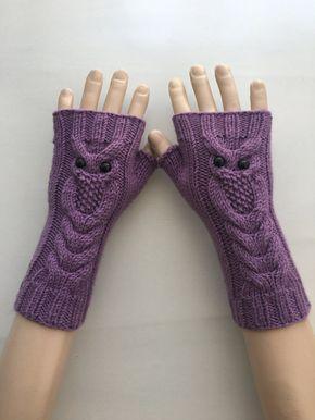 EXPRESS-VERSAND Lila Eule handgestrickte von ReyyanCrochet auf Etsy