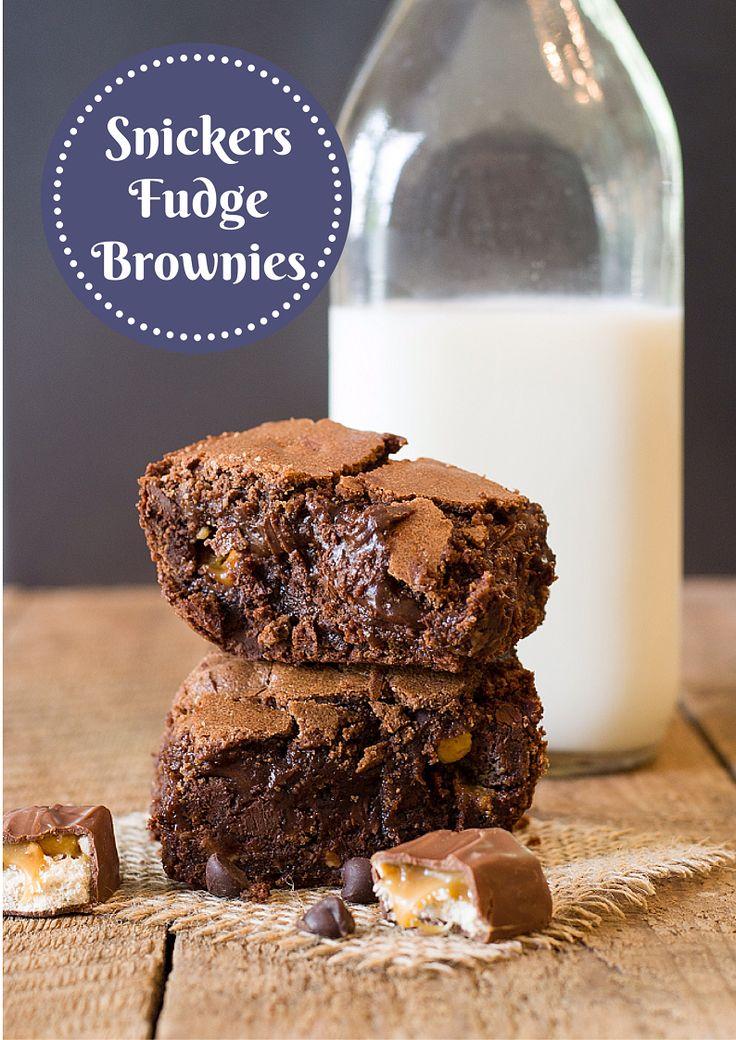 SNICKERS FUDGE BROWNIES recipe