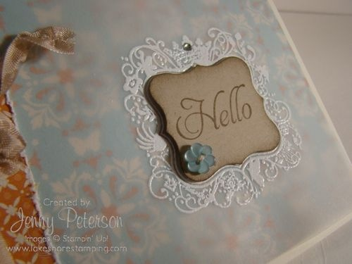 vellum card with white embossing